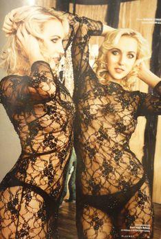 Елена Веснина засветила грудь в эротических нарядах для журнала Playboy, Март 2014