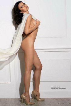 Надя Ручка позирует голой в журнале «Playboy», Октябрь 2012