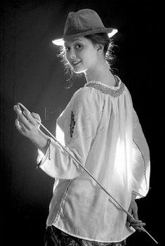 Молодая Ольга Кабо без бюстгальтера
