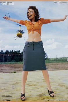 Эмилия Спивак немного оголилась для журнала «Strong man», Октябрь 2005