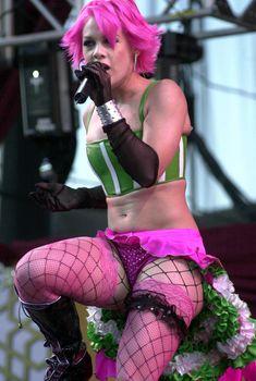 Розовые трусики Пинк на концерте Wango Tango, 06.01.2001