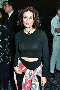 Деми Мур в прозрачном топе на конвенции ShoWest, 1993