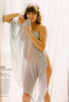 Беременная Милла Йовович снялась обнажённой для журнала Jane, Август 2007