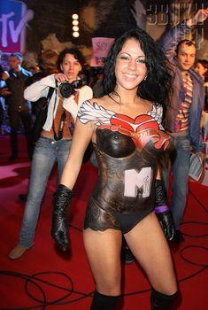 Елена Беркова топлесс на Russia Music Awards, 2008