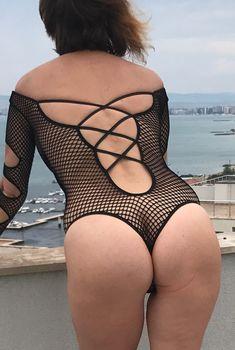 Обнажённая Наталья Штурм в прозрачном белье позирует для Instagram, Август 2017