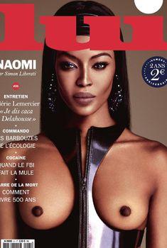 Обнаженная Наоми Кэмпбелл для журнала Lui, Октябрь 2015