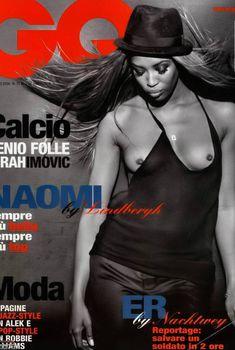 Голая грудь Наоми Кэмпбелл в журнале GQ, Февраль 2006