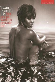 Упругая маленькая грудь Наоми Кэмпбелл для журнала GQ, Март 2011