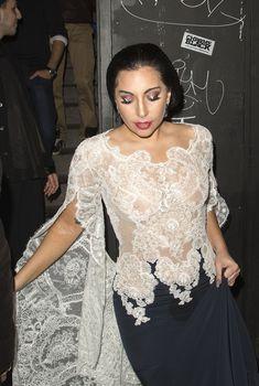 Леди Гага засветила соски в Лондоне, Октябрь 2014