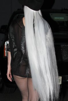 Леди Гага в колготах в сеточку возвращается со студии, Февраль 2014