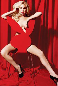 Голая Линдси Лохан в журнале Playboy, Январь 2012