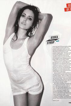 Грудь Джессики Строуп в мокрой майке для журнала FHM, 2009