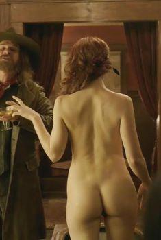 Голая Конор Лесли в сериале «Клондайк», 2014