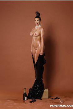 Ким Кардашьян снялась голой для журнала Paper, Декабрь 2014