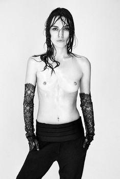 Голая грудь Кири Найтли в журнале Interview, Сентябрь 2004