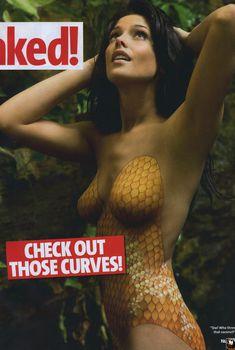 Эшли Грин в купальнике «боди-арт» в журнале Nuts, Январь 2010