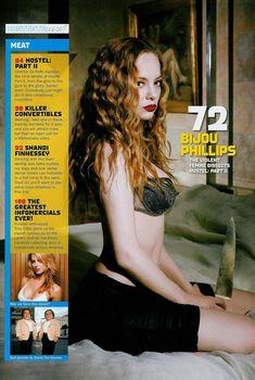 Секси Бижу Филлипс  в журнале Stuff, Июнь 2007