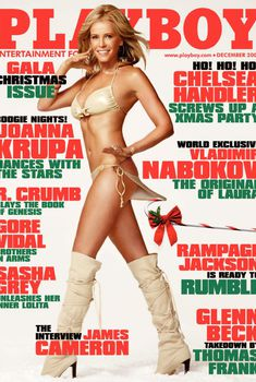 Сексуальная Челси Хэндлер на фото в журнале Playboy, Декабрь 2009