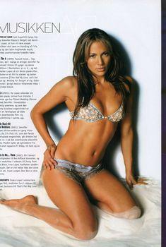 Горячая Дженнифер Лопез в фотосессии для журнала M!, Август 2003