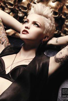 Эротичная Руби Роуз на фото для журнала Inked, Август 2010
