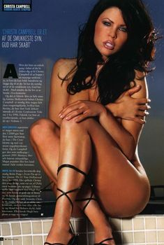 Раздетая Криста Кэмпбелл  в журнале M!, Ноябрь 2004