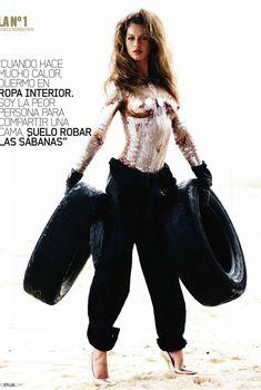 Брутальный образ Жизель Бюндхен в журнале DT, Октябрь 2010