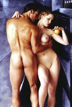 Полностью голая Мелисса Джордж в журнале Black+White, Февраль 1995