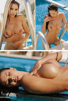 Абсолютно обнажённая Китана Бэйкер в журнале Playboy's Nudes Pool Party, 2007