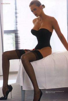 Эротическая Наталия Соколова снялась в белье для журнала M!, Сентябрь 2003