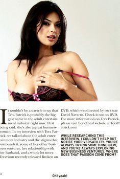 Горячая Тера Патрик в сексуальном белье для журнале Oh! Yeah!, 2013