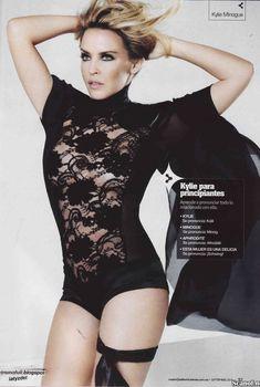 Эротичная Кайли Миноуг  в журнале Maxim, Октябрь 2010