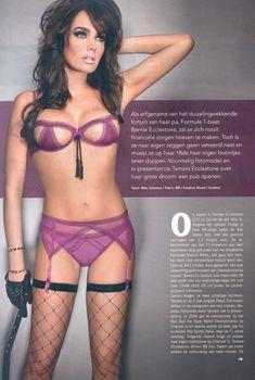 Сексапильная Тамара Экклстоун  в журнале P, Октябрь 2011