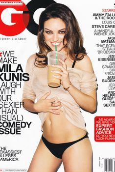 Мила Кунис в трусиках для журнала GQ, Август 2011