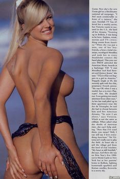 Божественные формы Виктории Сильвстедт  в журнале Playboy, Июнь 1997