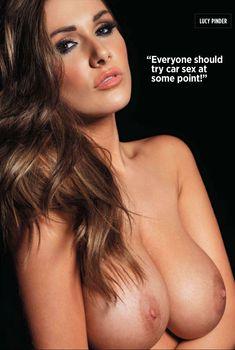 Люси Пиндер позирует обнаженной  в журнале Nuts, Май 2012