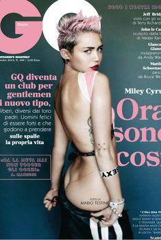 Майли Сайрус оголила попку  в журнале GQ, Октябрь 2013