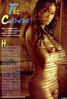 Обнажённая Тиа Каррере в чувственном образе для журнала Playboy, Январь 2003