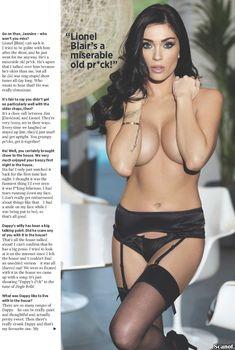 Горячая Джасмин Уолтц в сексуальном белье в журнале Nuts, Январь 2014