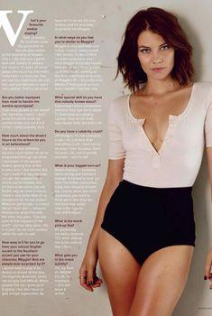 Открытое декольте Лорен Кохэн в журнале Maxim, Январь 2014