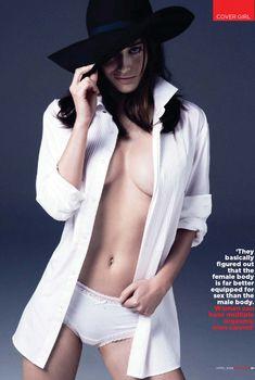 Сексуальная Лиззи Каплан в игривом образе для журнала GQ, Апрель 2014