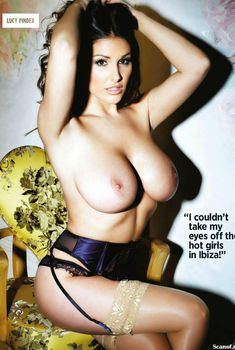 Люси Пиндер  обнажилась в журнале Nuts, Март 2014