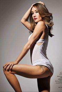 Сексуальная Мэгги Кью позирует в белье для журнала Inked, Май 2012