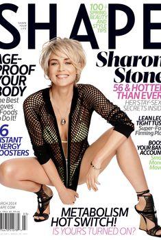 Эротичная Шэрон Стоун  в журнале Shape, Март 2014