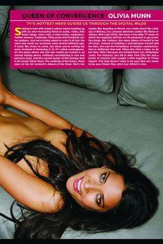Гораячая Оливия Манн  в журнале Playboy, Июль 2009