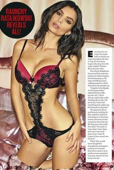Красотка Эмили Ратаковски в эротическом нижнем белье для журнала ZOO, Январь 2015