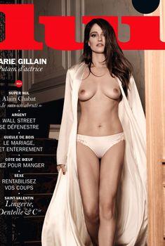 Обнажённая грудь Мари Жиллен появилась в журнале Lui, Февраль 2015